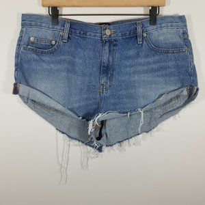 BDG Urban Outfitters Cuffed Cut-Off Jean Shorts 32